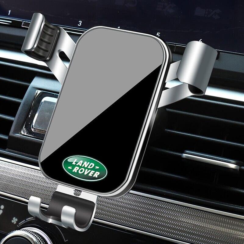 1 pçs suporte do telefone carro gravidade sensoriamento ventilação de ar montagem suporte acessórios para land rover range rover freelander evoque defender sv