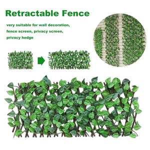Expanding Trellis Fence Retractable Fence Artificial Garden Plant Fence UV Protected