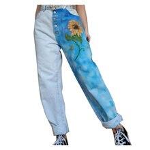 Джинсы в стиле пэчворк с принтом брюки карго 2020 джинсы бойфренды