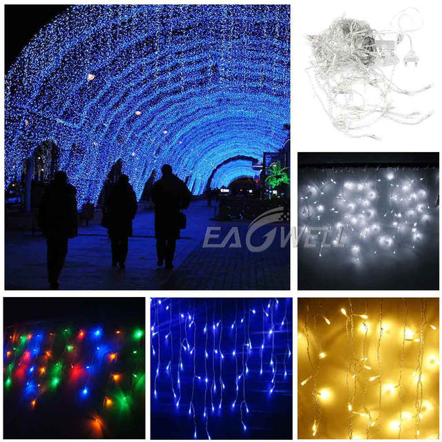3-30M Festoon Christmas Curtain Icicle LED String Light Indoor Outdoor Party New Year Garland Fairy Decoration Light for Home 2