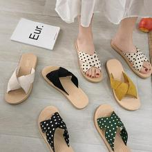 issacoco square head knit women s slippers ladies casual shoes non slip ladies slippers home slippers women shoes women sandals CINESSD Home Slippers Women Summer Sandals Woman 2020 New Flat Casual Shoes Woman Slippers Ladies Chaussure Femme Slides Women