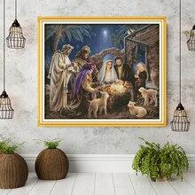 Năm Sinh Của Chúa Hài Đồng Hoa Văn, Aida Vải Chéo Nữ Thời Trang Bộ Dụng Cụ, Thêu Bộ Kim Chỉ Bộ, trang Trí Nhà Cửa Gửi Phụ Kiện Dụng Cụ