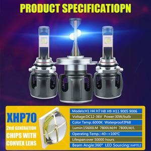 Image 3 - الأصلي XHP70.2 H7 H11 Led Lampada لمبة H4 H1 H8 Led المصباح مصباح Canbus لا خطأ Hb3 9005 9006 LED كشافات الضباب ضوء 6000K