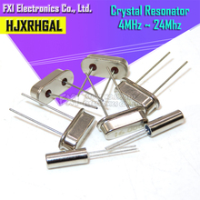 10PCS 4Mhz 6Mhz 8Mhz 12Mhz 16Mhz 20Mhz 24Mhz 32,768 K 2*6 32,768 K 3*8 Quarz Kristall Resonator Passive Oszillator HC 49S