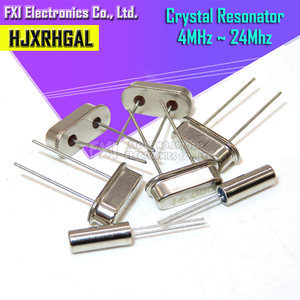 Image 1 - 10PCS 4Mhz 6Mhz 8Mhz 12Mhz 16Mhz 20Mhz 24Mhz  32.768K 2*6  32.768K 3*8  Quartz Crystal Resonator Passive Oscillator HC 49S
