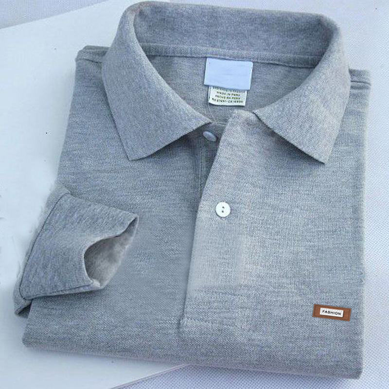 Top Quality Men's Long Sleeve Polos Shirts 100% Cotton Casual Classical Brand Lapel Male Polos Shirts Fashion Mens Tops XS-4XL