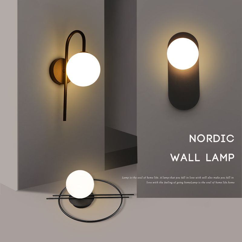 Nordic style LED iron wall lamps Art Deco aluminum wall sconces minimalist parlor dinning room bedroom corridor LED wall lights
