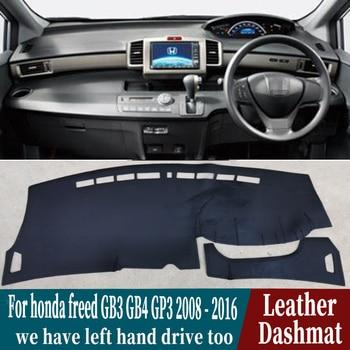 For honda freed GB3 GB4 GP3 2008 2009 2010 2011 2012 2016 Leather Dashmat Dashboard Cover Pad Dash Mat Carpet Car-Styling RHD
