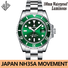 Men Watches Mechanical Nh35a-Movement GIV Top-Brand Waterproof Automatic Luxury Sport
