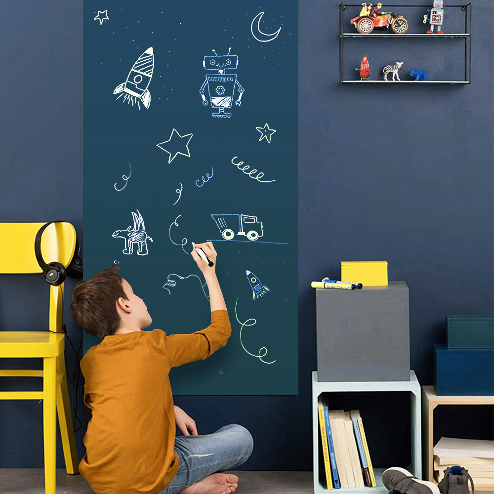 Kids Graffiti Blackboard Removable Decor Wall Sticker Hold Magnets Office School Writing Message Board Blackboard Chalkboard