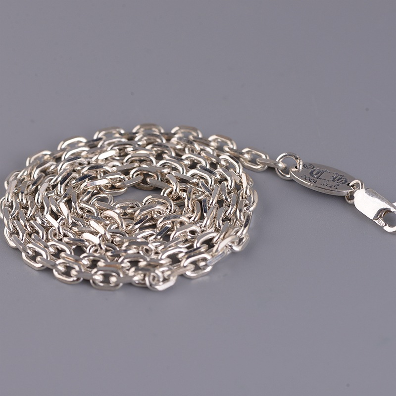 S925 Silver Chain Wholesale Retro Thai Silver Lobster Clasp 0 Word Chain Fashion For Men And Women With Silver Necklace