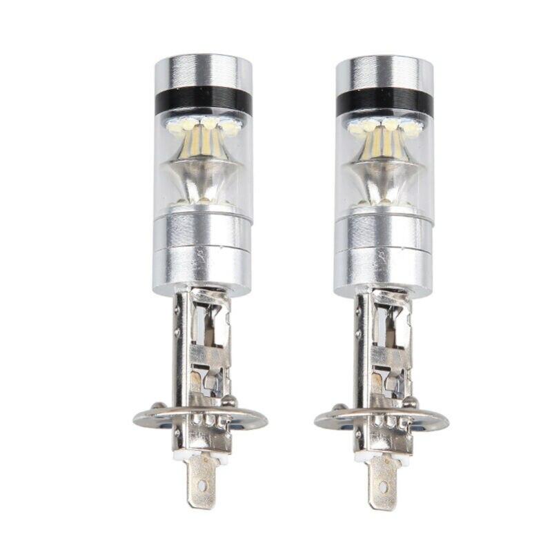 2pcs H1 100W LED White 12-24V 20 SMD Projector Headlight Fog Driving DRL Lights Bulb 6000K Truck Light System Car LED Lights