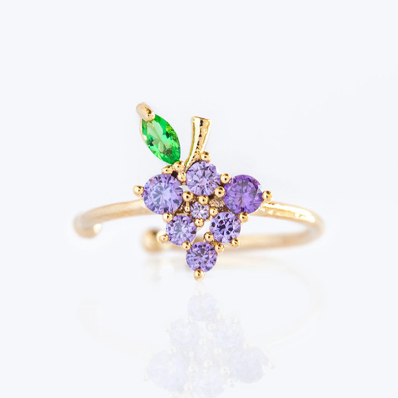 Summer Cute Exquisite Korean Fashion Earrings Jewelry Ladies Girls Women's 18k Gold Plated Crystal Peach Fruits Charm Ear Cuffs