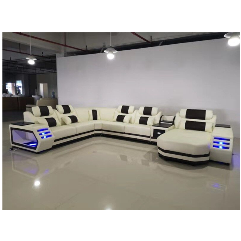 Recliner Sofa Set With Led Lights