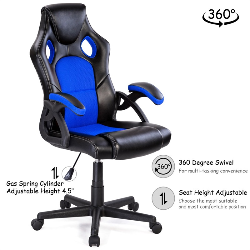 PU Leather Bucket Seat Executive Racing Style Swivel Lift Office Chair Desk Computer Gaming Chair Armchair Silla Gamer Furniture