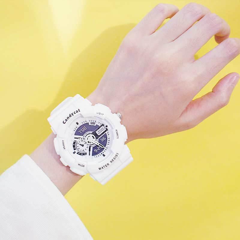 Acrylic Strap Wristwatch Clock LED Watch Waterproof Women Colorful Luminous Student Couple Sports Electronic Watch