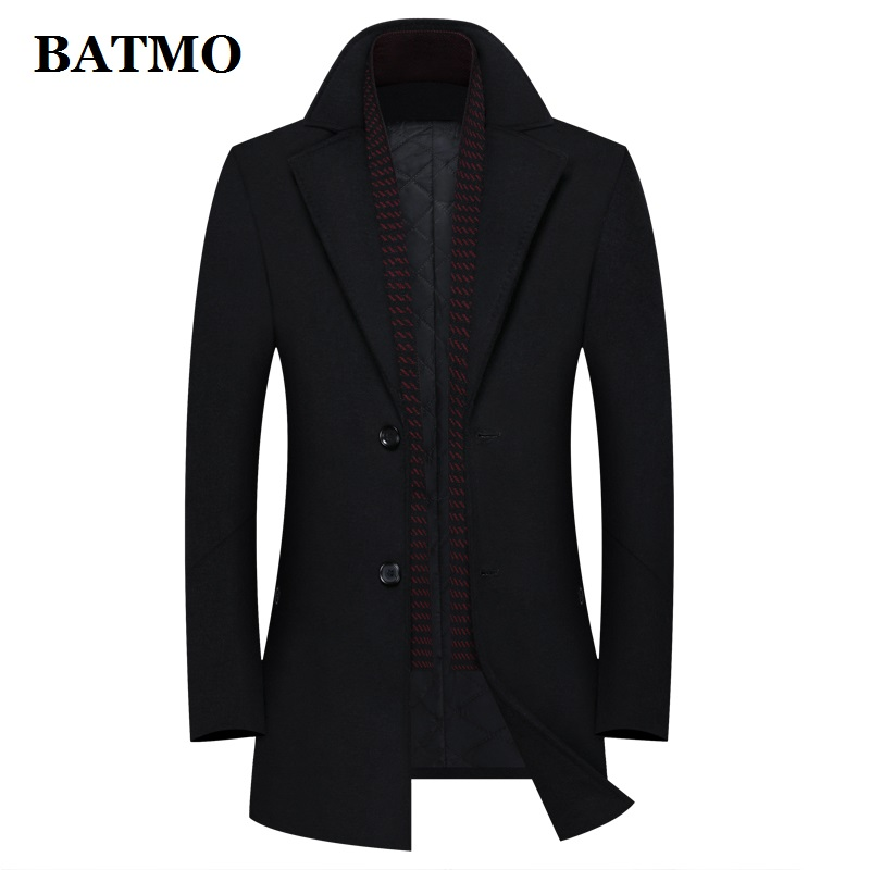 BATMO 2020 new arrival autumn&winter high quality wool casual trench coat men,men's wool coat,plus-size M-4XL 8828