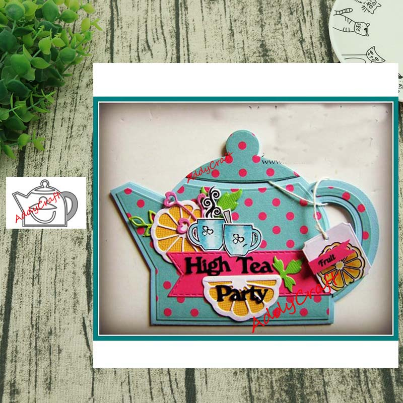Teapot Metal Cutting Dies DIY Scrapbooking Photo Album Embossing Paper Card Cut