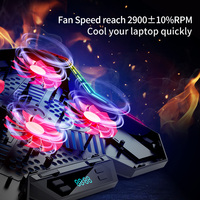 Coolcold Gaming RGB Laptop Cooler 12-17 Inch Led Screen Laptop Cooling Pad Notebook Cooler Stand With Six Fan And 2 USB Ports
