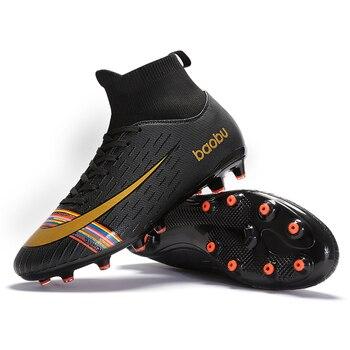 Tacos Para Niños | Nuevo 2019 Zapatos De Fútbol De Interior Para Hombres Y Mujeres, Zapatos De Fútbol Para Niños, Botas De Entrenamiento De Cancha Dura TF, Zapatillas Deportivas, Tamaño 35-46