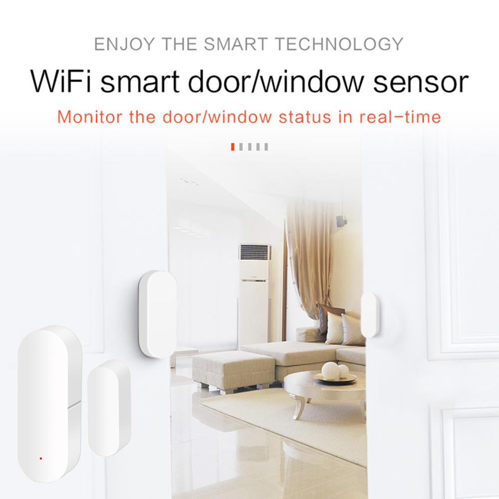 Tuya Smart Door Intrusion Detector Security Burglar Alarm Door Window Sensor Office Wireless Home Shop