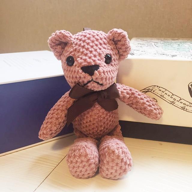 Peluche ours en peluche 18-20CM, mignon lapin robe pendentif poupées cadeaux anniversaire mariage décor de fête 2