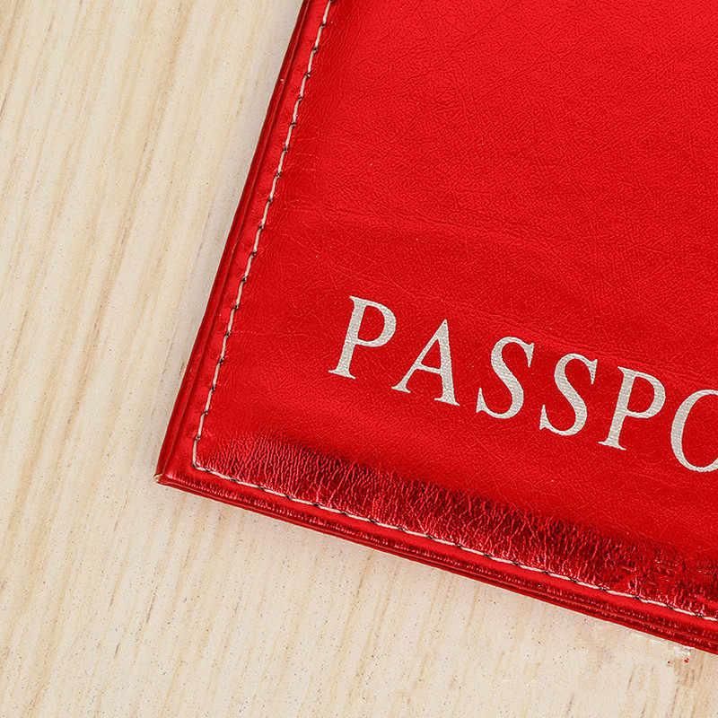 1PC di Modo di Paillette Del Passaporto di Copertura Del Passaporto Impermeabile Caso Della Copertura Del Supporto Del Passaporto di Viaggio Titolare Del Passaporto di Alta Qualità Pacchetto