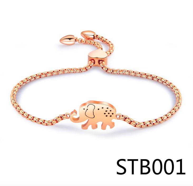 STB1 I lOVE U Pendant Charm Bracelets Female European Style Enamel Beads Heart Bracelet For Women Jewelry Gift