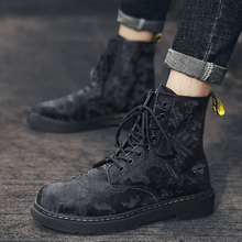 British Style Vintage Men Boots Crazy Genuine Leather Outdoor Men Autumn Boots Water Proof Work Hiking Winter Ankle Boots Shoes northmarch british vintage men boots luxury designer genuine leather martin men boots autumn business winter ankle boots shoes