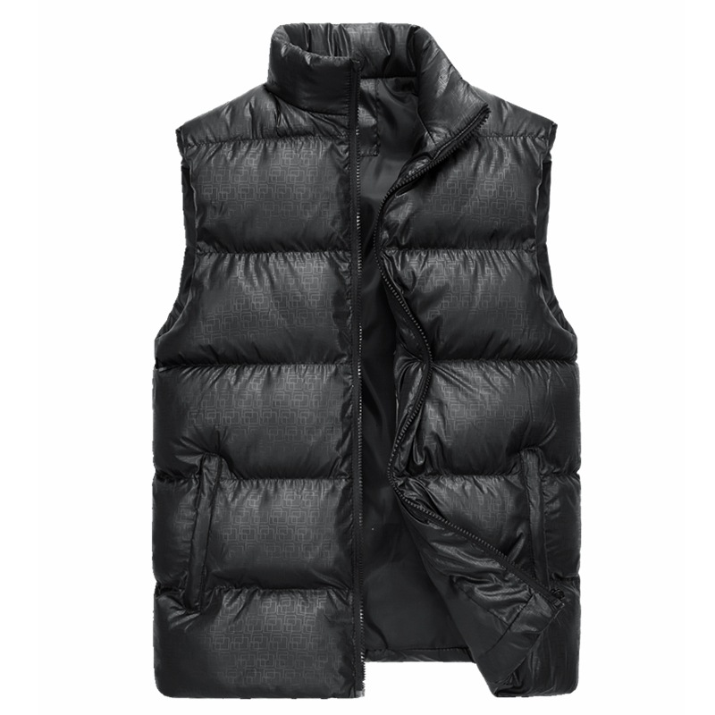 Down cotton vest man, men thicker warm vest, jacket  man hoodie