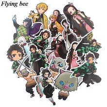 20sets/lot (17pcs/set) Flyingbee Sticker Anime Stickers for DIY Luggage Laptop Car Stickers X0727