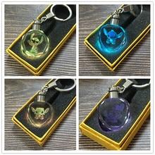 2020 fashion key chains Shidzai cartoon key chain cute pattern LED new crystal key ring key chain accessories accessories