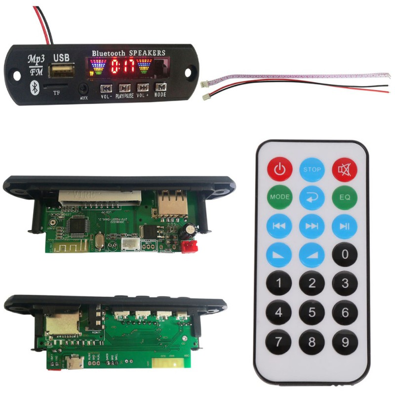 LCD Auto <font><b>Bluetooth</b></font> 4,2 <font><b>MP3</b></font> <font><b>Player</b></font> FLAC APE Decoder Board <font><b>Modul</b></font> W. USB FM Aux Radio Texte Spektrum Ordner Display PW SPEICHER KIT image