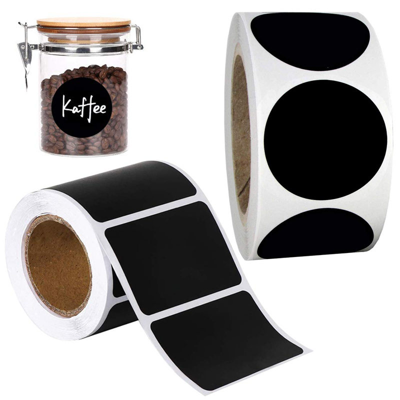 Blackboard Chalkboard Stickers Organizing Reusable Round Rectangle Kitchen Labels For Jars Bottles Containers Pantry Storage