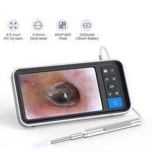 Otoscópio digital com 4.5 polegadas de tela 3.9mm 1080p hd orelha escopo endoscópio com 2500mah bateria recarregável e 32gb cartão sd