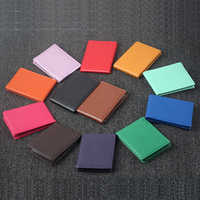 Solid Color Driver License Holder Pu Leather on Cover for Car Driving Documents Business ID Pass Certificate Folder Wallet
