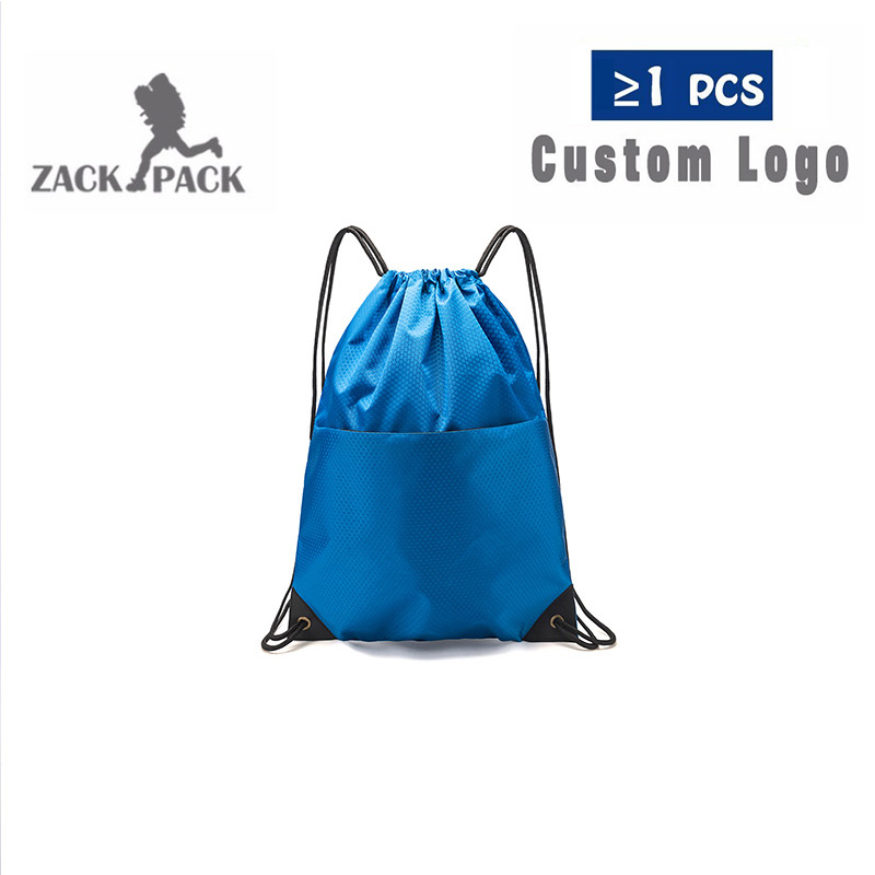 3PCS Custom Logo Drawstring Polyester Bags Promotional Custom Printed Logo Sports Backpack Cinch Sack For Kids Girls Boys DB68