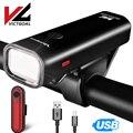 Фонарь для велосипеда victgoal передний USB Перезаряжаемый светодиодный велосипедный задний фонарь Головной фонарь задний фонарь велосипедный ...