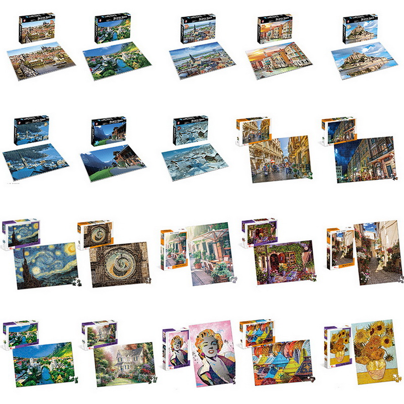 Puzzles 500 Pieces Adults Landscape Jigsaw Puzzles For Kids Educational Toys For Children Game Interesting Toys Gift
