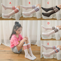 Summer Lace Baby Mesh Socks Newborn Toddler Cotton Knee Socks Baby Girls Boys Long Socks Infant anti mosquito knee high Sock