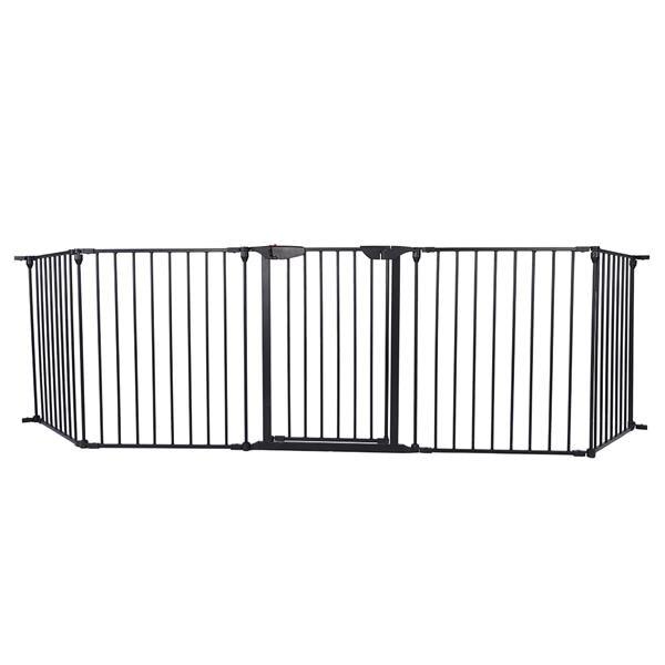 5 шт/6 шт стальные заборы Для каминной безопасности, забор для детей, забор для домашних животных, изоляционные ворота, барьер для детской лес... - 4