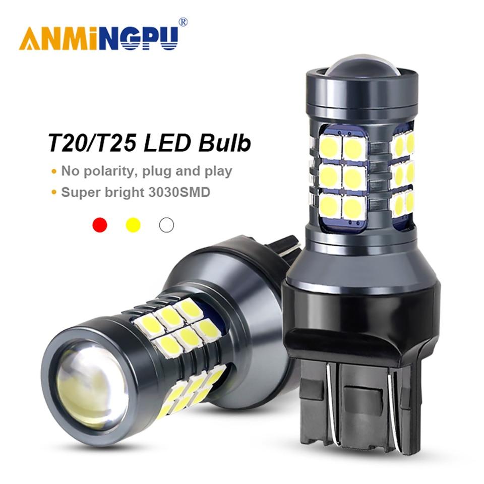 ANMINGPU 2x Signal Lamp 7443 W21/5W T20 Led W21W 7440 3030SMD Led T25 3157 P27/7W Led 3156 P27W Turn Signal Reverse Light 12V