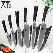 Color Wood Handle Kitchen Knives 3 5 7 8 8Inch High Grade 7Cr17 Stainless Steel Knife 6 Pcs Set Cooking Tools Hot Sale