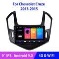 Автомагнитола на Android 9,0 для Chevrolet Cruze J300, J308, 2013, 2014, 2015, Wi-Fi, 4G, мультимедийный видеоплеер, 2 Гб + 32 ГБ, сенсорный экран 9 дюймов IPS