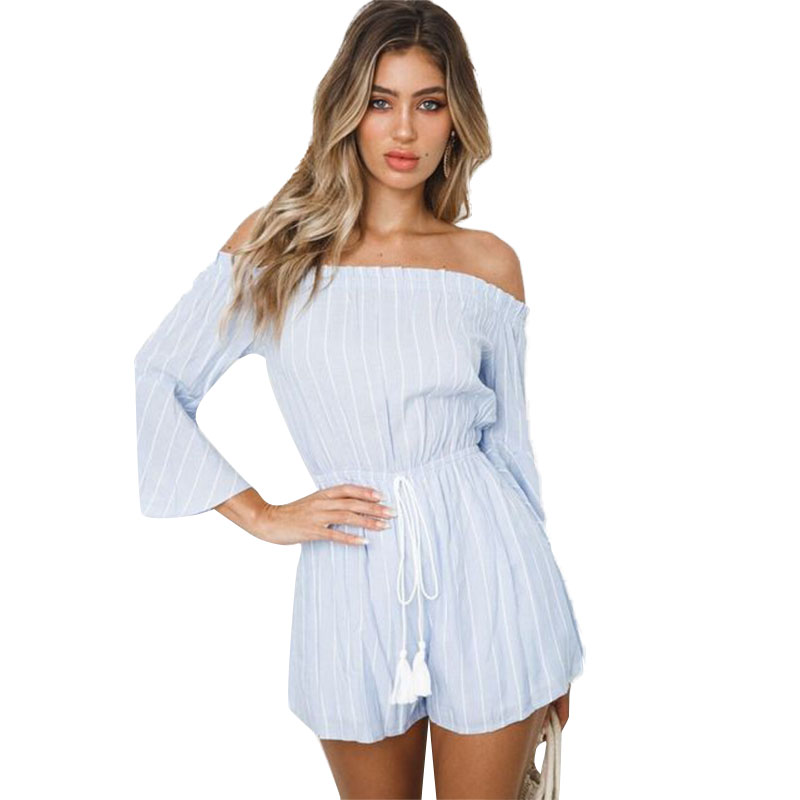 fashion Sexy Women 39 s One Shoulder Striped Jumpsuit amp Romper 2019 Sexy Casual Club Office Work Jumpsuit Rompers Women Jumpsuit 2019 in Rompers from Women 39 s Clothing
