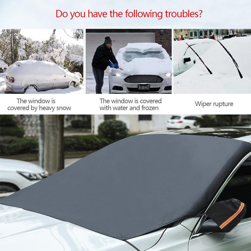 Escudo delantero de Invierno Coche Parabrisas Helada Cubierta De Hielo Nieve Protección de Ventana Frontal