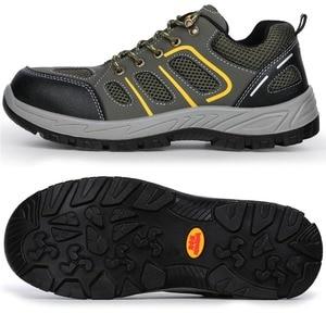 Image 4 - JACKSHIBO Mannen Veiligheid Werk Schoenen Laarzen Security Anti smashing Stalen Neus Veiligheid Werkschoenen Mannen Onverwoestbaar Laarzen Werken schoenen