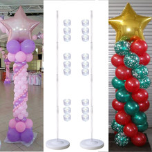 DIY Adjustable Size Balloon Column Stand Plastic Balloon Holder Support Base and Pole for Wedding/Birthday/Christmas Party Decor(China)