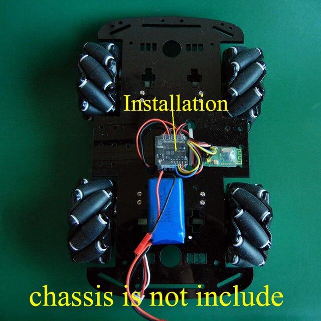 1PC 2.7Ax4 Mecanum roue ESC 6 V-10 V GA25-370 châssis de voiture régulateur de vitesse électronique avec 18 actions pour bricolage RC pièces de modèle