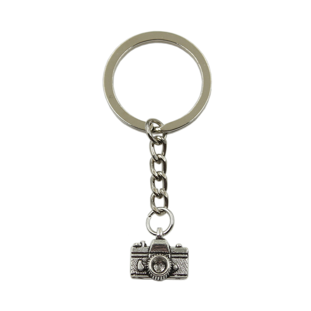 Factory Price Camera Pendant Key Ring Metal Chain Silver Color Men Car Gift Souvenirs Keychain Dropshipping
